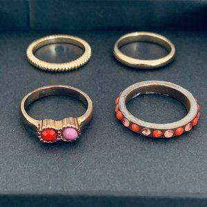 Set of 4 H&M rings